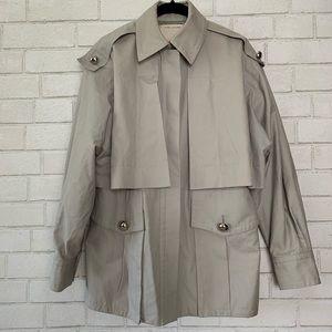 Marc Jacobs Beige Car Coat  Tan Size 2 100% Cotton